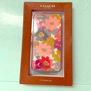 Coach iPhone 5/5s/SE case EUC floral and pink